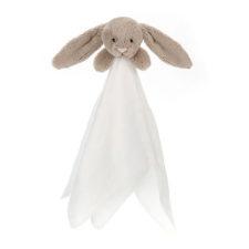 Jellycat Bashful Beige Bunny Muslin Soother snuttefilt kanin