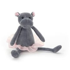 Jellycat Dancing Darcey Hippo small kramdjur gosedjur flodhäst