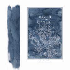 Line of Art Jennie Elofsson Nässjö poster blå pensel