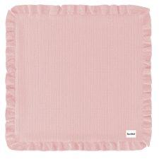 Ruffle Blanket Pink trikåfilt med volang rosa