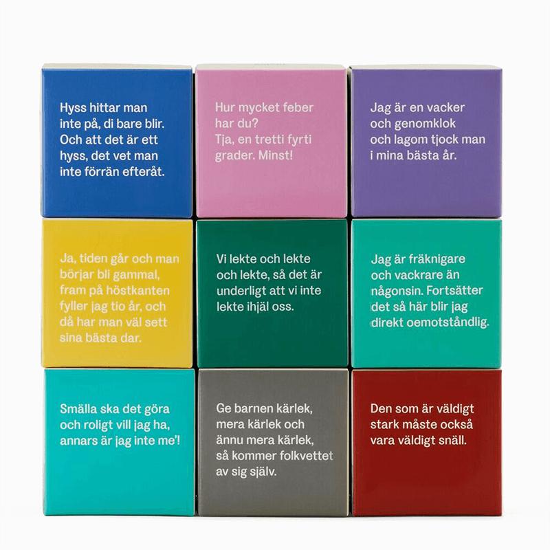 Astrid Lindgren Kartonger Motiv Texter