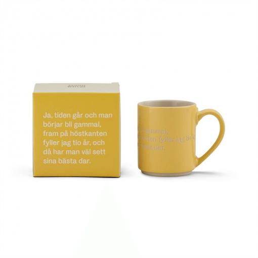 Astrid Lindgren Mugg och låda gul