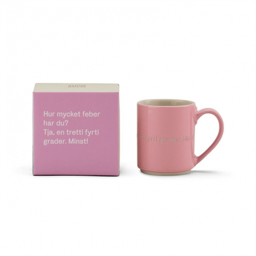 strid Lindgren Mugg och låda rosa
