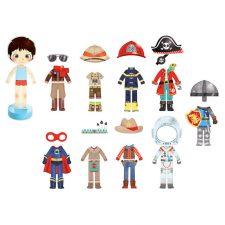 Vilac Docka Arthur med magnetkläder alla kläder