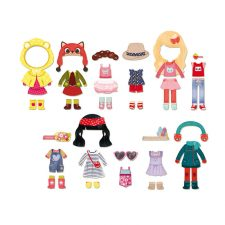 Vilac Docka Chloé med magnetkläder alla kläder