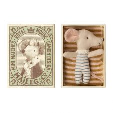 Maileg Baby mouse Sleepy wakey in box boy